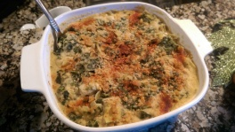 Happy Herbivore spinach and artichoke dip. My omni family loved this and so did I! It tasted so rich, but contains so many healthy goodies, bound together by mashed white beans. Nobody commeted on the lack of cheese.